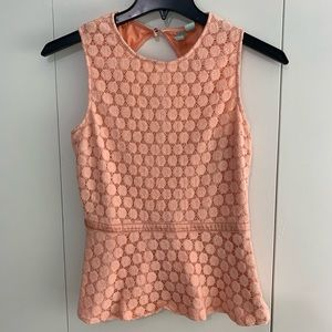 Forever 21 exclusive S poplin orange sleeveless
